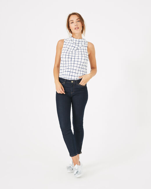 Pia raw-cut 7/8 length jeans (2) - 1-2-3