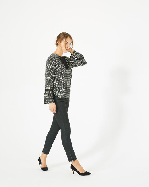 Edelys black printed blouse (1) - 1-2-3
