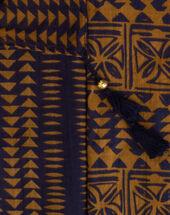 Salvatore caramel cotton printed scarf caramel.