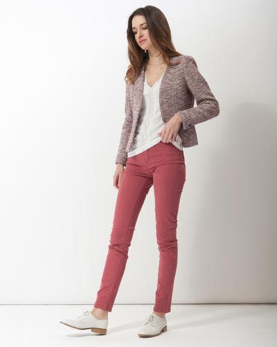 Honey V-neck ecru sweater (2) - 1-2-3