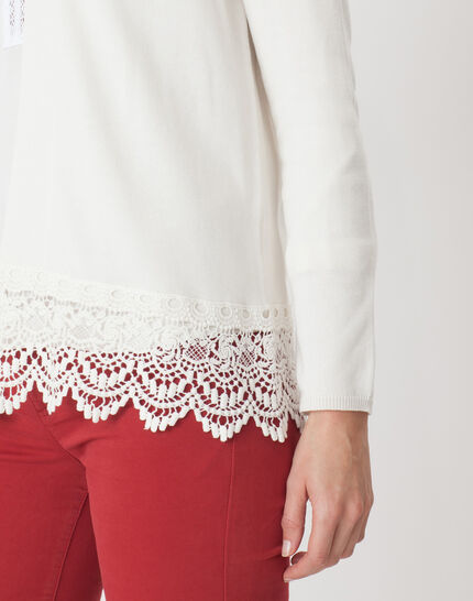 Héritage ecru cardigan with lace (5) - 1-2-3