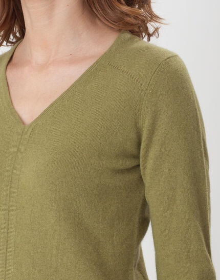 Heart olive green cashmere sweater (5) - 1-2-3