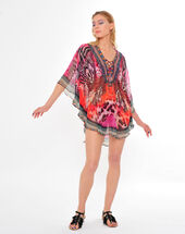 Savali orange print tunic orange.