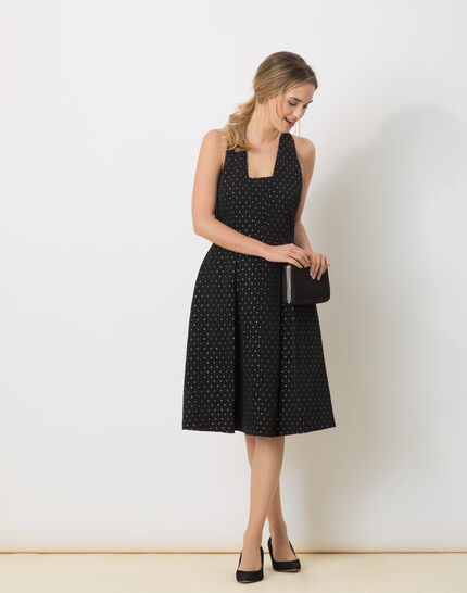 Robe noire en ottoman Felicity (5) - 1-2-3