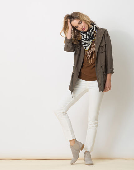 Sauvage animal print scarf in cotton (3) - 1-2-3