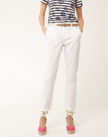 Francis white 7/8 length trousers PhotoZ | 1-2-3