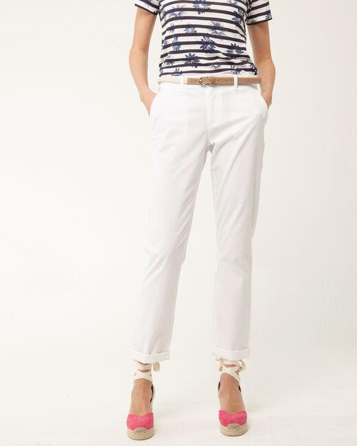 Pantalon 7/8ème blanc Francis (2) - 1-2-3