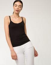 Nina black vest top black.