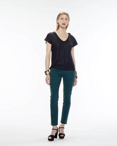 Tee-shirt noir en lin Nuba (2) - 1-2-3
