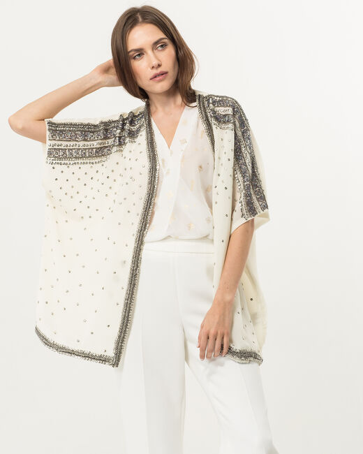 Kimono écru brodé Ulana (2) - 1-2-3