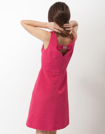 Farah fuchsia ottoman dress (3) - 1-2-3
