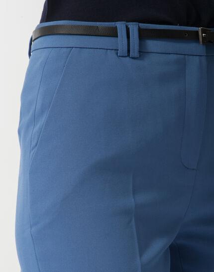 Pauline smart blue trousers with belt (5) - 1-2-3