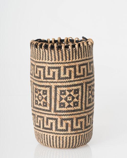 Pakito black and white beach basket (1) - 1-2-3