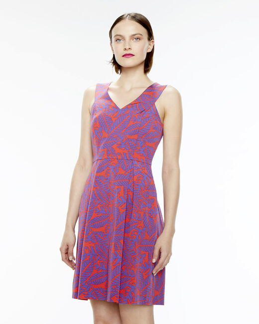 Famous pink printed dress  (1) - 1-2-3