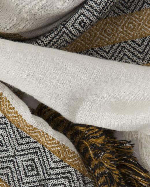 Sign saffron printed scarf (2) - 1-2-3