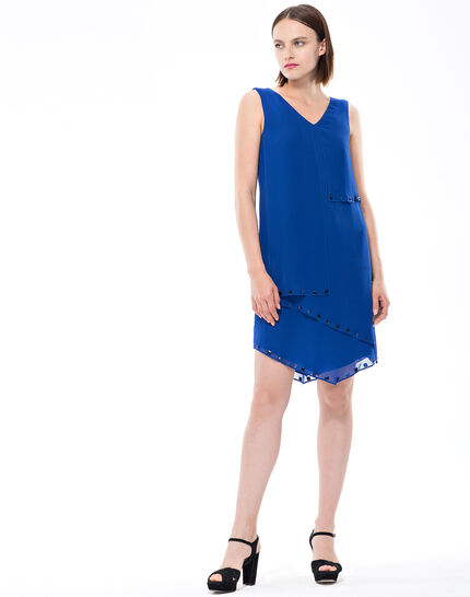 Fabienne floaty blue dress with cabochons (2) - 1-2-3