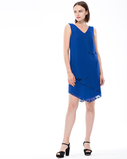 Fabienne floaty blue dress with cabochons (1) - 1-2-3