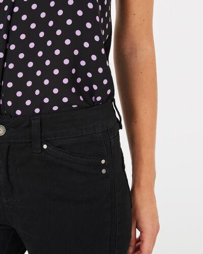 Pantalon 7/8ème noir satin Pia (2) - 1-2-3