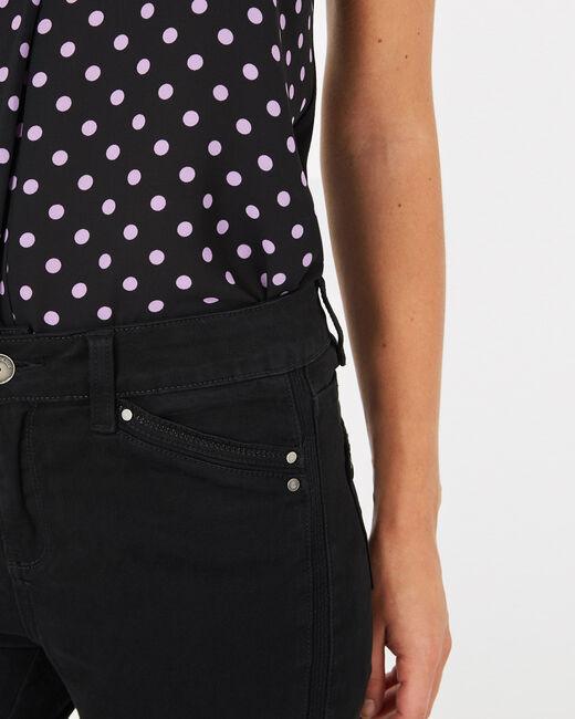 Pantalon 7/8ème noir satin Pia (1) - 1-2-3