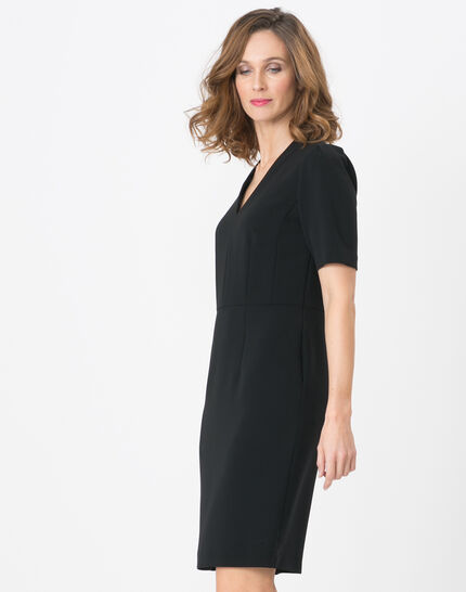 Bilbao black straight-cut dress (6) - 1-2-3