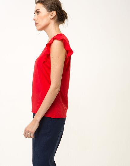 Tee-shirt rouge Nathalie (4) - 1-2-3