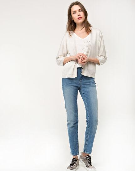 Hirondelle beige knitted jacket (2) - 1-2-3