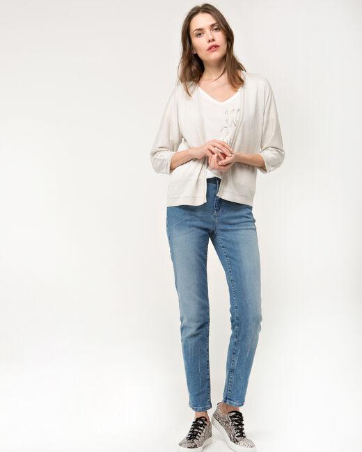 Hirondelle beige knitted jacket (1) - 1-2-3