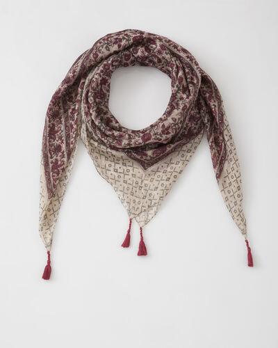 Suzon fuchsia silk printed scarf (1) - 1-2-3