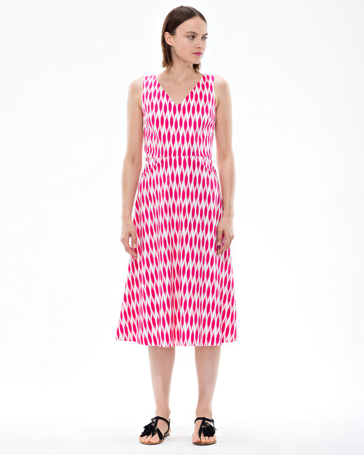 Fantine fuchsia printed dress (1) - 1-2-3