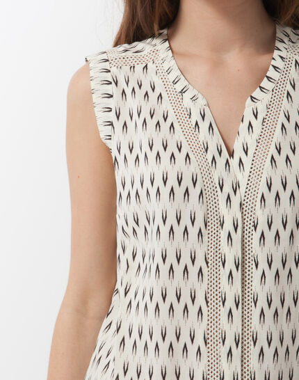Edwood printed sleeveless blouse (5) - 1-2-3