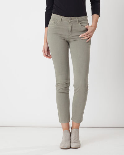 Oliver light khaki 7/8 length trousers (2) - 1-2-3