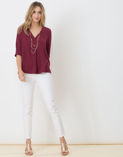 Elvire blackcurrant shirt with necklace (3) - 1-2-3