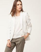 Astuce white linen jacket white.