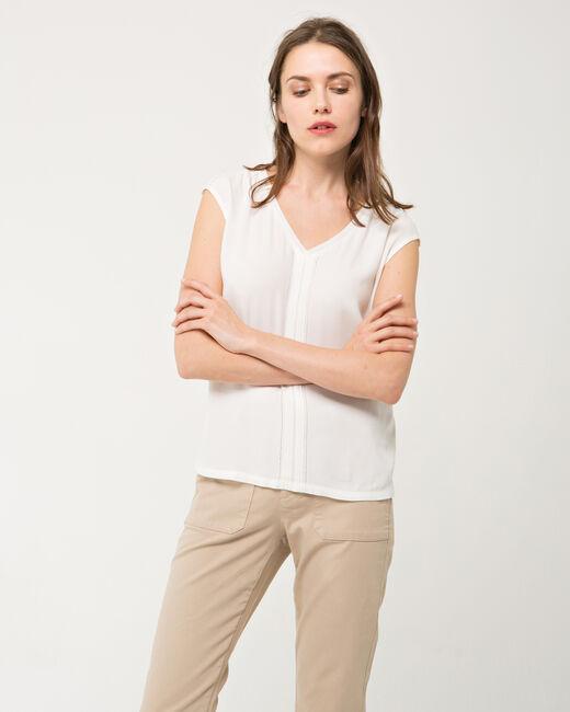 Tee-shirt écru dentelle Next (2) - 1-2-3