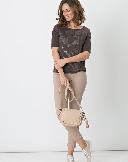 Neko brown T-shirt with safari print (4) - 1-2-3