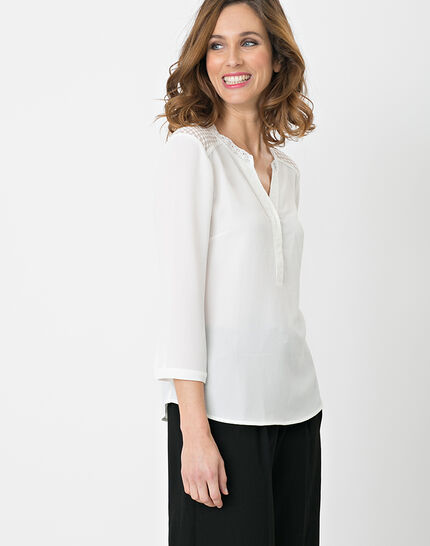 Edita ecru shirt with lace (2) - 1-2-3