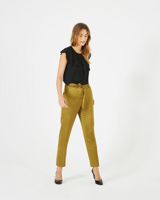 Pantalon brillant vert olive Volt (2) - 1-2-3