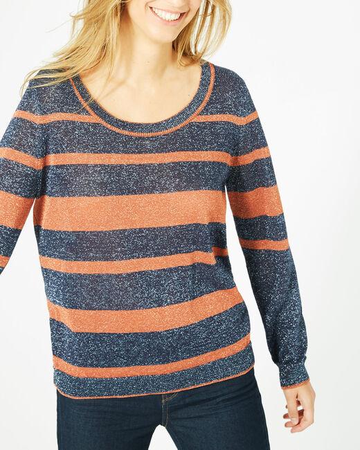 Pharaon orange glittery sweater with stripes! (1) - 1-2-3