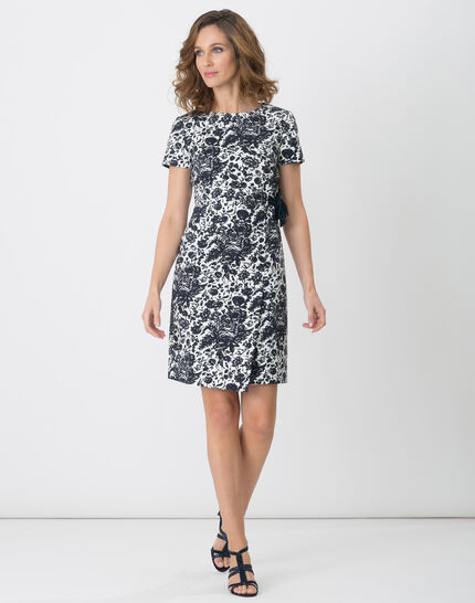 Floriane blue printed dress PhotoZ | 1-2-3