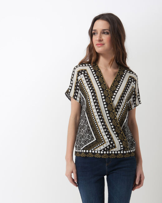 Alix printed wrap-over shirt (1) - 1-2-3