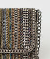 Pamela silver beaded clutch bag PhotoZ | 1-2-3