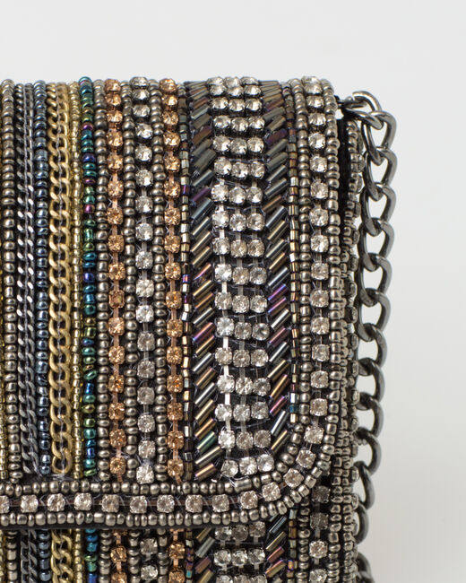 Pamela silver beaded clutch bag (2) - 1-2-3