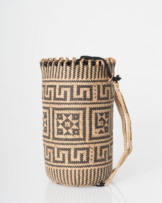 Pakito black and white beach basket (2) - 1-2-3