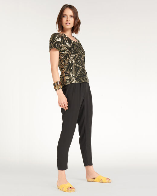 Nor gold-coloured sequinned vest top (2) - 1-2-3