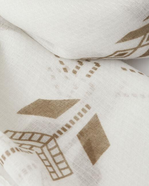 Sylvio white printed scarf (2) - 1-2-3