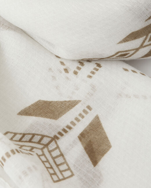 Foulard blanc imprimé Sylvio (2) - 1-2-3