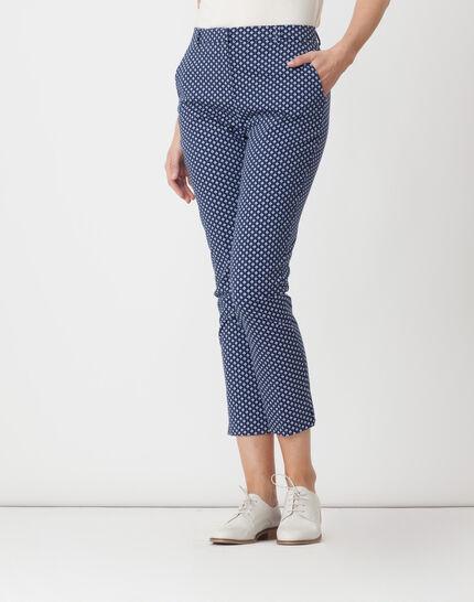 Rumba blue tailored jacket with polka dots PhotoZ | 1-2-3