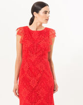 Fuego red lace dress red.