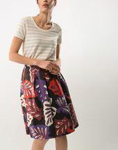 Zen printed skirt geranium.