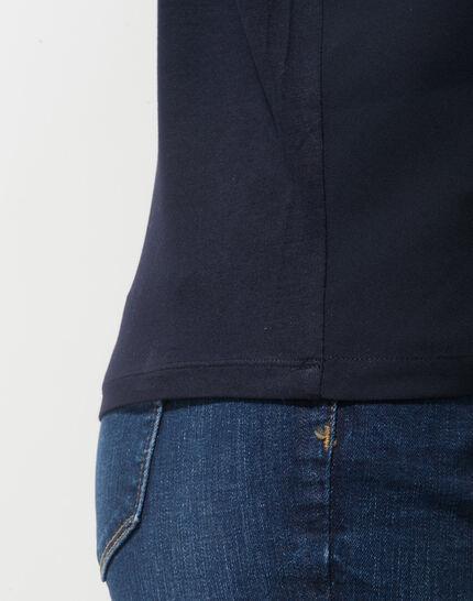 Tee-shirt bleu marine épaules dénudées Nymphe (6) - 1-2-3